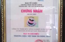 Chứng nhận thương hiệu Cam Vinh