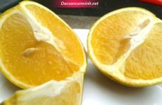 Lựa chọn những trái cam nhỏ nhưng sẽ ngọt đậm hơn trái lớn