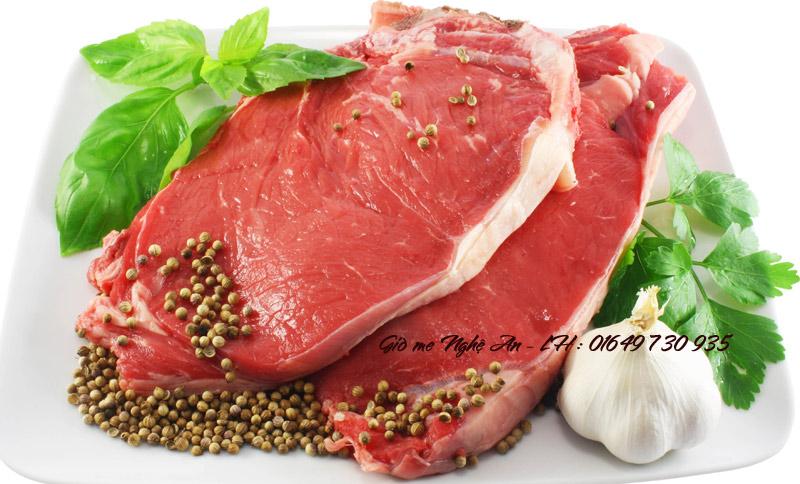 Thịt bê tươi ngon là nhân tố quyết định đến chất lượng của giò me